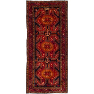 eCarpetGallery Ardabil Red/ Blue Wool Hand-knotted Rug - 4'3x9'8
