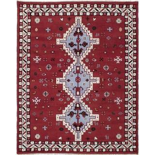 eCarpetGallery Royal Kazak Red Wool Hand-knotted Rug (7'10x9'10)