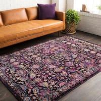 Haute Hali Pink Vintage Oriental Area Rug - 3'11 x 5'7