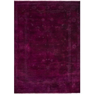 eCarpetGallery Red Wool Hand-knotted Color Transition Rug - 9'11x14'2