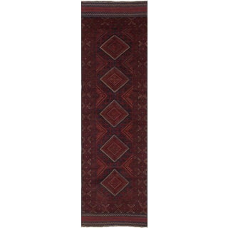 eCarpetGallery Tajik Caucasian Red Wool Hand-knotted Runner Rug (2' x 7'10)