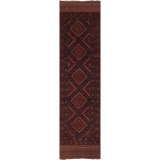 eCarpetGallery Red Wool Hand-knotted Tajik Caucasian Rug (1'11x8'2)