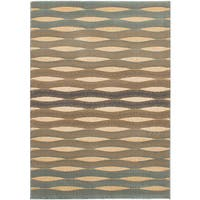 eCarpetGallery Brown/Ivory Power-loomed Chateau Rug - 3'10 x 5'7