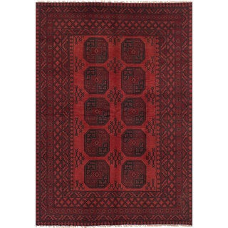 eCarpetGallery Khal Mohammadi Red Wool Hand-knotted Rug (5'3 x 8')