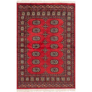 eCarpetGallery Hand-knotted Peshawar Bokhara Red Wool Rug (3'1 x 4'9)|https://ak1.ostkcdn.com/images/products/16765679/P23074528.jpg?impolicy=medium