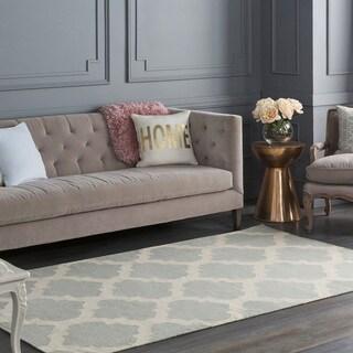 Colonial Home Grey Contemporary Trellis Kilim Area Rug - 4' x 6'
