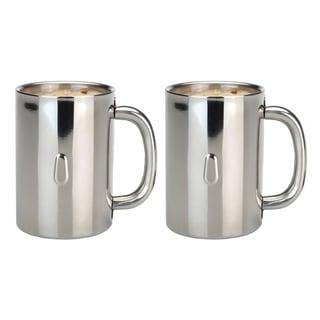 Straight 2pc SS Coffee Mug Set