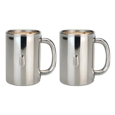 Straight 2pc SS Coffee Mug Set