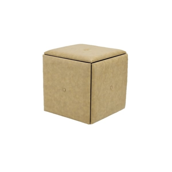 Superieur Storage Ottoman With 4 Stools Inside Leather Covers