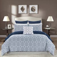 Chic Home Rajiv 10 Piece Navy Bed in a Bag Reversible Comforter Set
