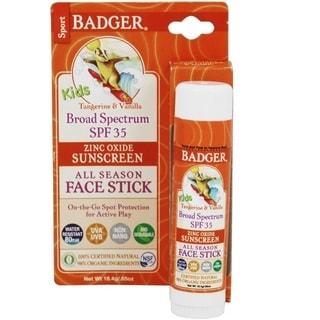 Badger Kids 0.65-ounce Sunscreen Face Stick SPF 35 Tangerine & Vanilla