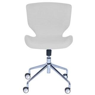 Elle Decor Madeline Hourglass Chrome Metal Base Upholstered Task Chair