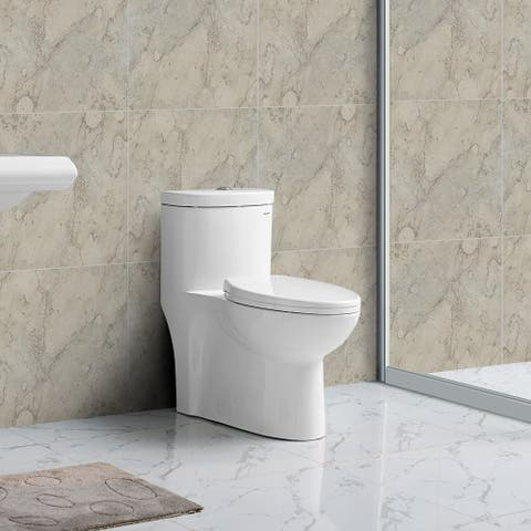 Swiss Madison Sublime One Piece Elongated Toilet Dual Flush 0 8 1 28 Gpf