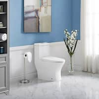 "Swiss Madison Sublime II One Piece Compact Small Toilet 24"" Long Dual Flush 0.8/1.28 GPF"