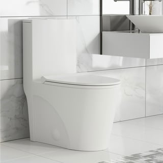 Swiss Madison St. Tropez One Piece Elongated Toilet Dual Tornado Flush 0.8/1.28 gpf