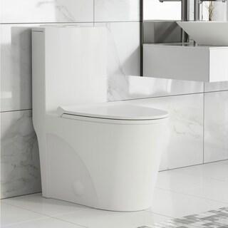 Swiss Madison St. Tropez One Piece Elongated Toilet Dual Tornado Flush 0.8/1.28 gpf