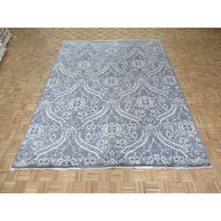 William Morris Oushak Hand-knotted Grey/Ivory Wool Oriental Rug (9' x 11'10)|https://ak1.ostkcdn.com/images/products/16765882/P23074713.jpg?impolicy=medium