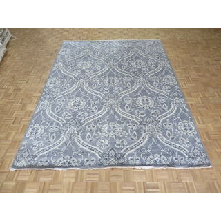 William Morris Oushak Hand-knotted Grey/Ivory Wool Oriental Rug (9' x 11'10)