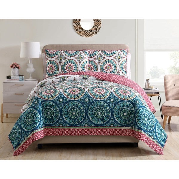 VCNY Home Zinnia 5-piece Reversible Quilt Set