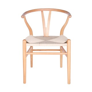 Euro Style Evelina Beige Woven Rush/Wood Side Chairs (Set Of 2)