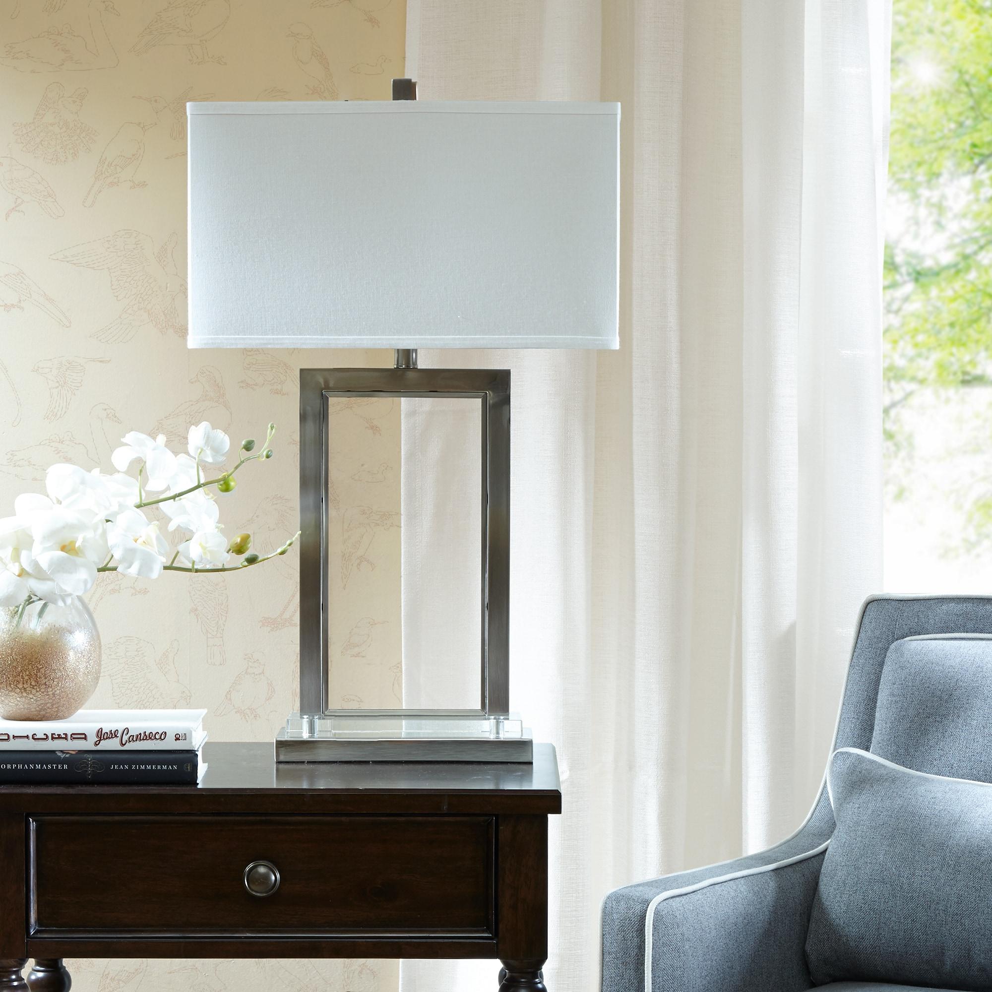 Madison Park Signature Audrey Silver Table Lamp (18L x 10W x 29.25H - Silver)