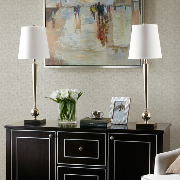 Madison Park Signature Luxor Silver Table Lamp