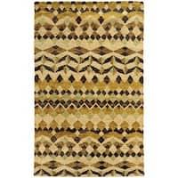 Tommy Bahama Ansley Beige/Gold Jute Area Rug (10' x 13') - 10' x 13'