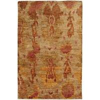 Tommy Bahama Ansley Beige/Orange Jute Area Rug (10' x 13') - 10' x 13'