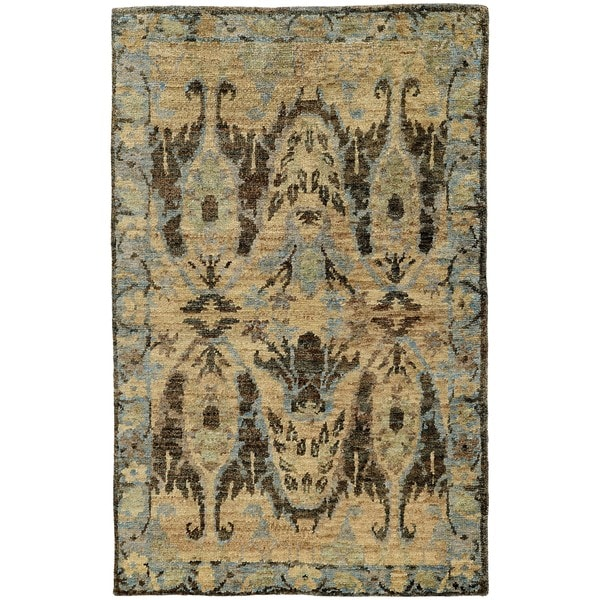 Tommy Bahama Ansley Faded Traditional Handmade Jute Area Rug. Opens flyout.
