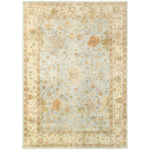 Tommy Bahama Palace Vintage Inspired Wool Hand Knotted Area Rug - 10' x 14'