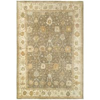 Tommy Bahama Palace Brown/Beige Wool Area Rug (10' x 14') - 10' x 14'