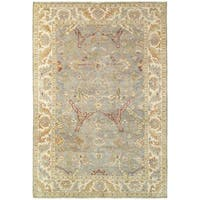 Tommy Bahama Palace Grey/Beige Wool Area Rug - 10' x 14'