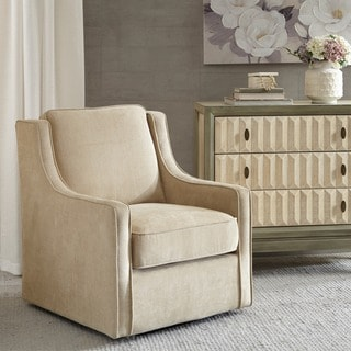 Madison Park Lois Cream Swivel Chair