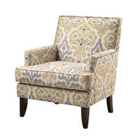Madison Park Charlie Grey Multi Track Arm Club Chair
