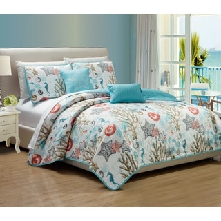 RT Designers Collection Coastal 5-Piece Quilt Set