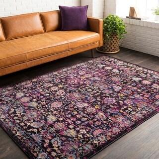 """Haute Hali Pink Vintage Oriental Area Rug - 5' x 7'3"""""""