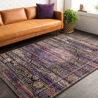 Trocadero Purple Vintage Persian Area Rug-5' x 7'3""