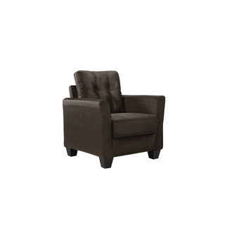 LYKE Home Modern Micro Suede Tufted Chair