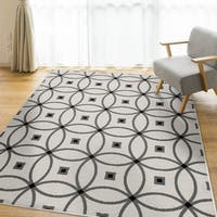 Carolina Weavers Peraza Collection Twisted Orbit White - 5' x 7'