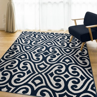 Carolina Weavers Peraza Collection Antalya Navy - 5' x 7'
