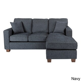 Porch & Den Over-the-Rhine Renner Reversible Chaise Sectional Sofa (Option: Navy)