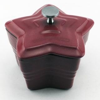 Cast Iron Mini-Casserole Star 8oz Red