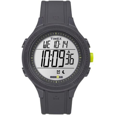Timex Men's TW5M14500 Ironman Essential 30 Black/Lime Silicone Strap Watch - black