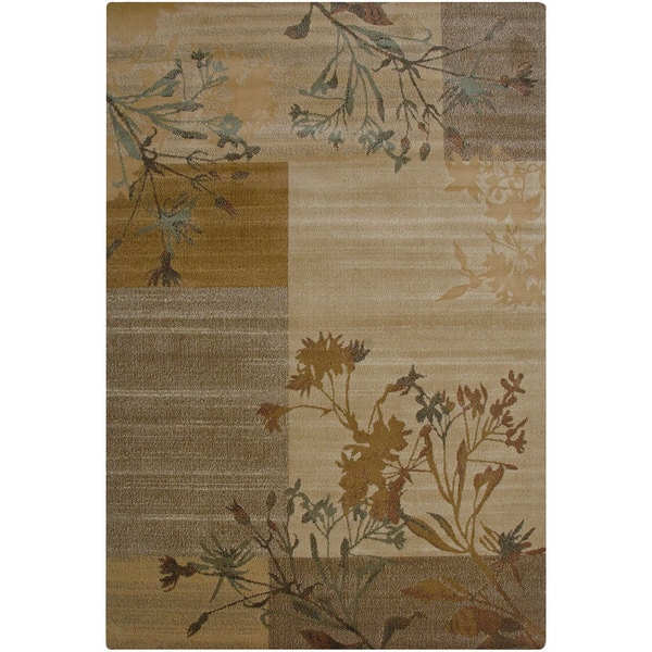 Rizzy Home Bellevue Beige Floral Area Rug - 9'2 x 12'6