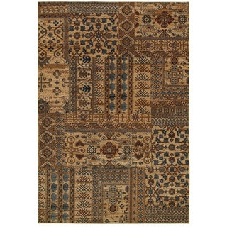 Rizzy Home Bellevue Brown/Beige Abstract Oriental Geometric Area Rug (9'2 x 12'6)