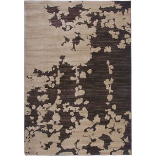 Rizzy Home Galleria Brown Abstract Area Rug (7'10 x 10'10)