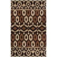 Rizzy Home Volare Brown Wool Ikat Geometric Hand-tufted Area Rug - 8' x 10'