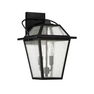 Quoizel Black Ridge Mystic Black 2-light Outdoor Wall Light