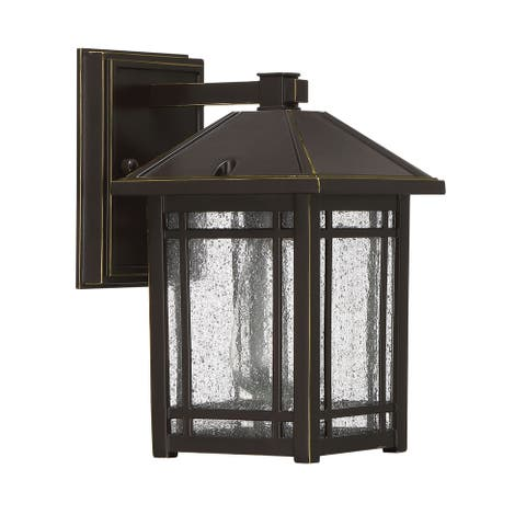 Rebi Bronze Palladian Outdoor Wall Sconce by Havenside Home