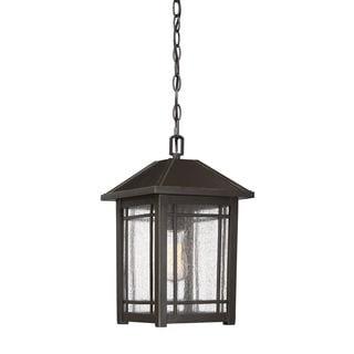 Quoizel Cedar Point Outdoor Hanging Palladian Bronze Aluminum Lantern